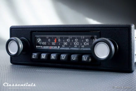 Blaupunkt BMW Bavaria S 1976 Vintage Original Auto Radio for BMW E21, E12, E24 - MP3 Ready autoradio oldtimer classic car classentials motoring essentials accessory accessories