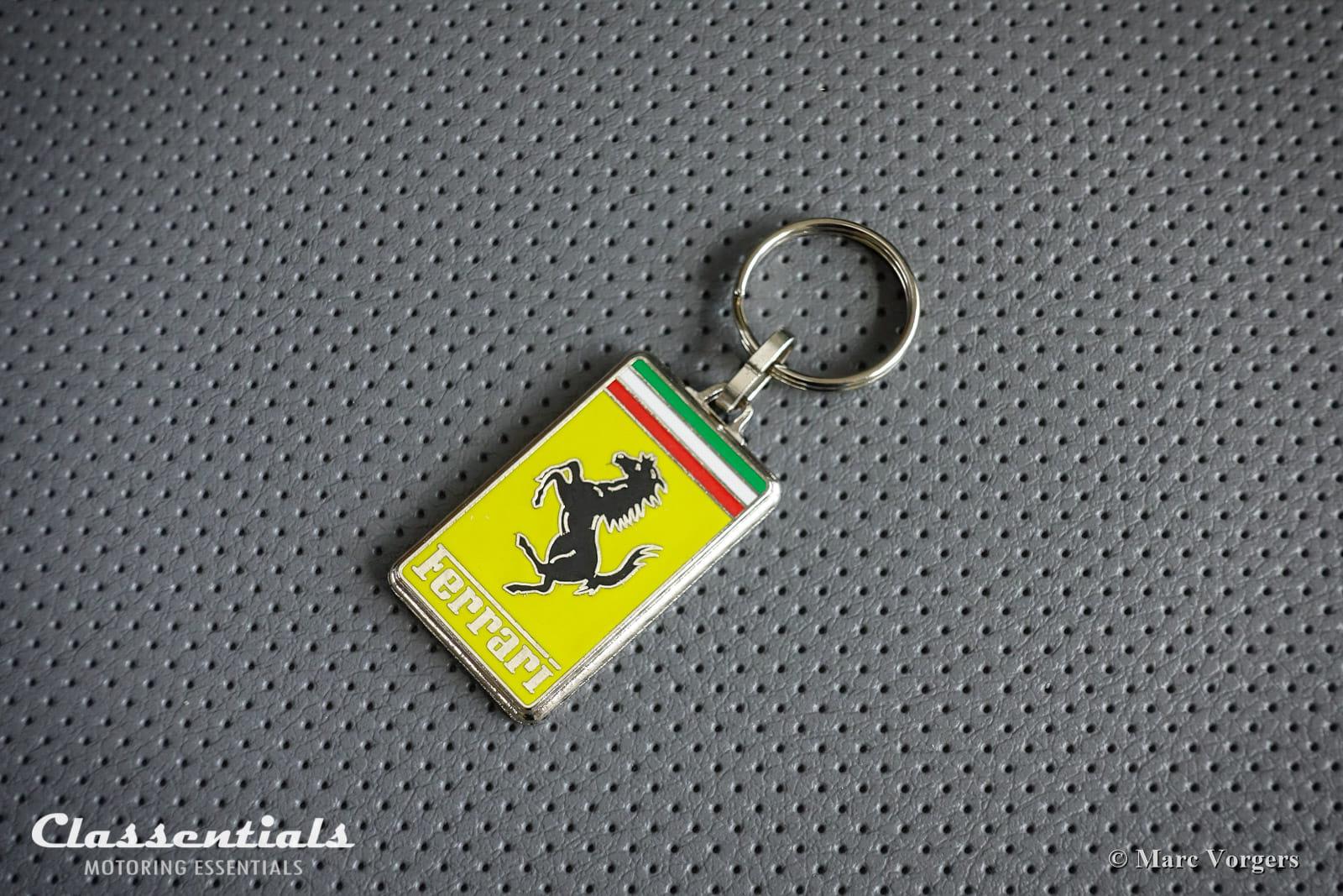 New Metal Chrome Ferrari Key Ring Fob