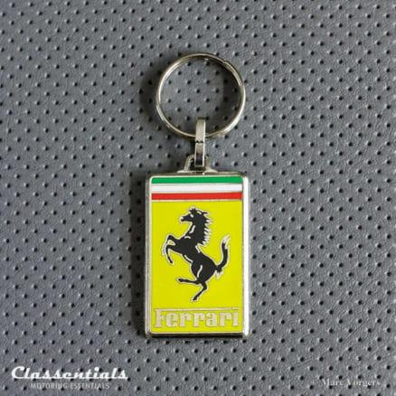 metal chrome Ferrari key ring sleutelhanger schlusselhanger porte cle cles