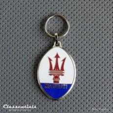 metal chrome maserati key ring fob sleutelhanger schlusselhanger porte cles cle