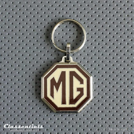 MG metal chrome key ring fob sleutelhanger schlusselhanger porte cle cles