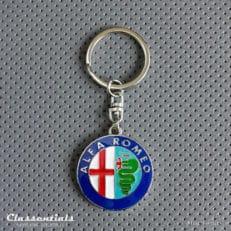 metal chrome key ring fob sleutelhanger schlusselhanger porte cle cles alfa romeo
