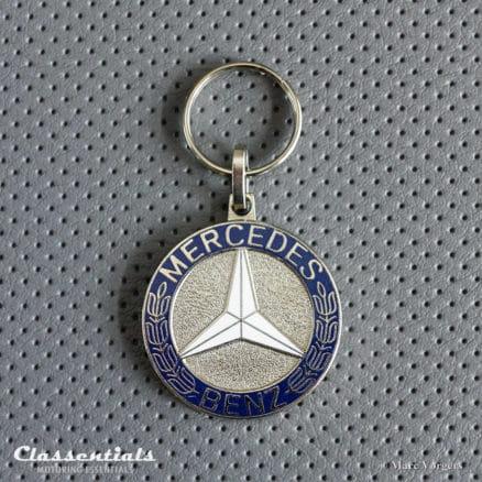 metal chrome mercedes benz key ring fob sleutelhanger schlusselhanger porte cles cle