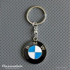 metal chrome BMW key ring fob sleutelhanger schlusselhanger porte cle cles