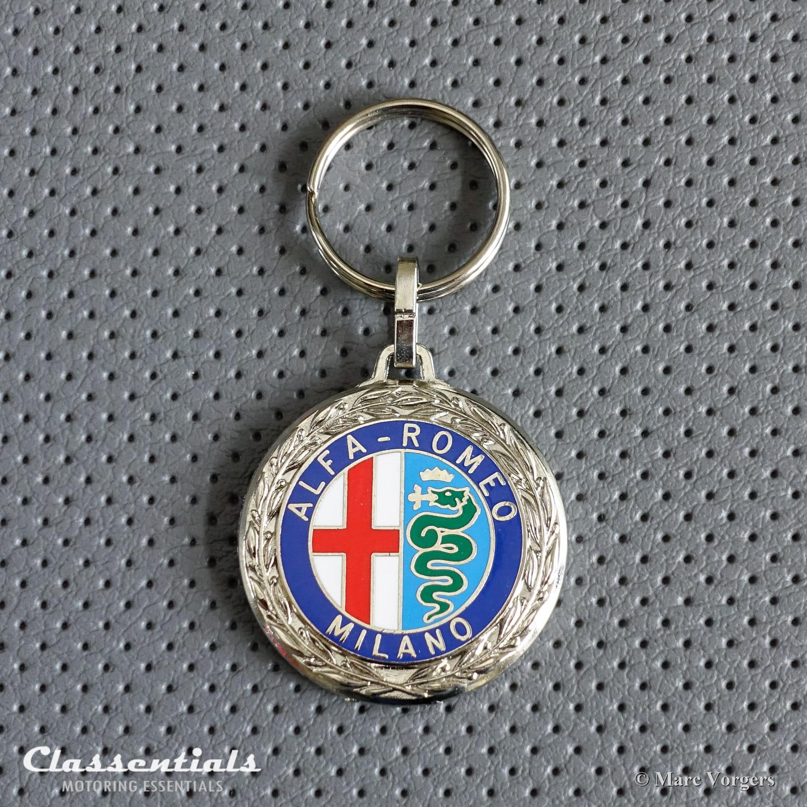 New Metal Chrome Alfa Romeo Key Ring Fob Models Up To 1973