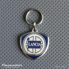 metal chrome lancia key ring fob sleutelhanger schlusselhanger porte cle cles
