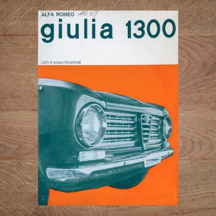 alfa romeo giulia 1300 1964 vintage original giulia user manual handboek handleiding betriebsanleitung uso manutenzione livre manuel conduite entretien