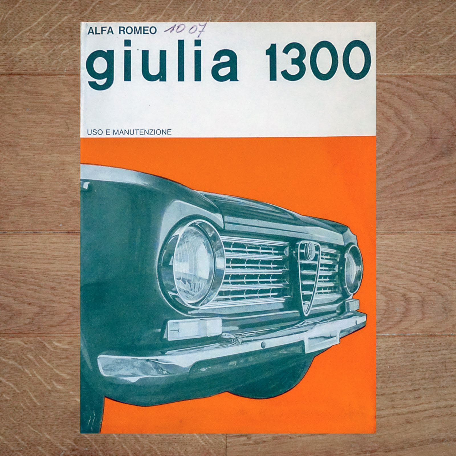 Vintage Original Alfa Romeo Giulia 1300 User Manual, 9