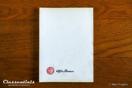 alfa romeo giulia TI 1966 vintage original giulia user manual handboek handleiding betriebsanleitung uso manutenzione livre manuel conduite entretien
