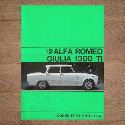 alfa romeo 1300 TI 1969 vintage original giulia user manual handboek handleiding betriebsanleitung uso manutenzione livre manuel conduite entretien
