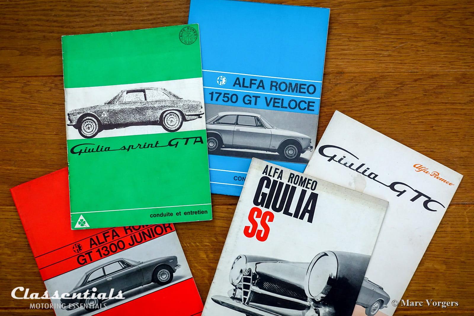 very rare vintage original alfa romeo user manuals giulia gt gta gtc veloce