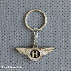 new metal chrome Bentley Key Ring / Fob sleutelhanger schlusselanhanger porte cles cle classic vintage car Bentley 3-Litre, 4.5-Litre, Speed 6, 4-Litre, 8-Litre, Blower, Blue Train, T1, Azure, Continental