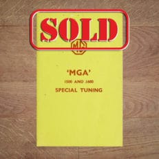 Vintage Original 1960 MG 'MGA' 1500 and 1600 Special Tuning Manual / Guide - AKD819B Classentials vintage motoring essentials book store shop