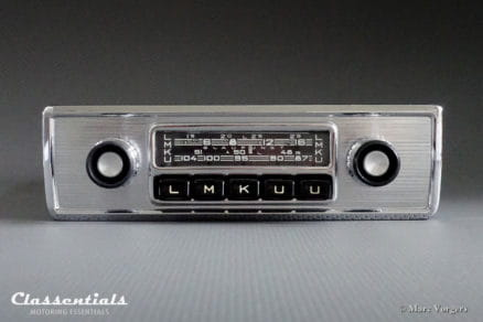 Blaupunkt Frankfurt W X Y 1965 1966 1967 Vintage Original High-End Classic Car Auto Radio for 1960s Cars face-plate blende classentials motoring essentials