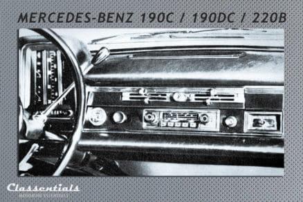 Blaupunkt Frankfurt W vintage original classic car auto radio autoradio Mercedes Benz 220