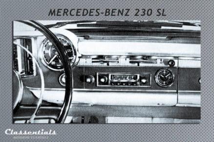 Blaupunkt Frankfurt W vintage original classic car auto radio autoradio Mercedes Benz 230 SL