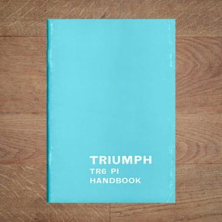 Vintage Original Triumph TR6 PI Handbook / Owners Manual, English Language classentials classic car oldtimer motoring essentials book store shop