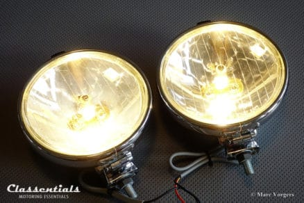 Vintage Original Lucas LR14 'Silver Lance' 6-Inch 1960s Long-Range Spot-Lamps (pair) - Austin Healey, Ford, MG, Triumph, TVR and Others - NEW OLD STOCK! classic car oldtimer accessory accessories classentials motoring essentials