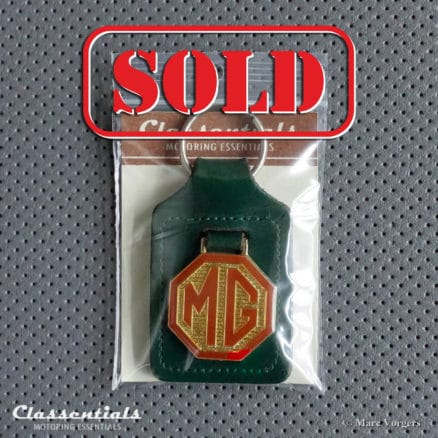 VERY RARE Vintage Original 1960s Leather MG Dealer Key-Ring for all Classic MG Models - Excellent! Classentials Motoring Essentials Classic Car Cars Oldtimer sleutelhanger porte cle cles schlusselanhanger accessory accessories