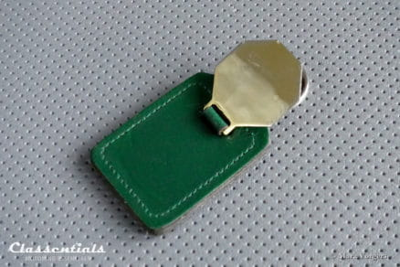 VERY RARE Vintage Original Leather MG Key-Ring for all MG models sleutelhanger oldtimer schlussel anhanger porte cle cles chiavi classentials motoring essentials auto classic car accessory accessories MG J2, Magna, Magnette, T-Series, MGA, MGB or MGC Beadles Eltham Barrets Canterbury