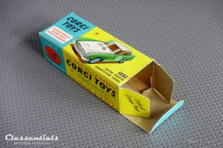 VERY RARE 1960s Corgi Toys Aston Martin DB4 Competition Model Number 1 309 - MINT - collectors item die cast model classentials motoring essentials classic car oldtimer accessory accessories