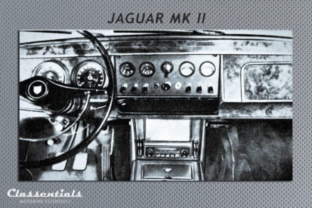 Blaupunkt Frankfurt Y classic car auto radio vintage autoradio 1967 Jaguar MK II 2