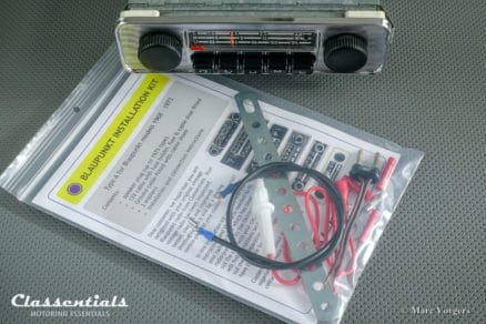 Blaupunkt Emden AU 1971 Vintage Original Classic Car Auto Radio for VW BEETLE With Metal Dashboard 1968 - 1973 MP3 and Bluetooth Ready Oldtimer Autoradio Classentials