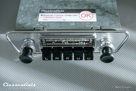 Blaupunkt Frankfurt X 1966 VERY RARE Vintage Original High-End Classic Car Auto Radio 1960s 1964 1965 1966 1967 Jaguar E-type XK-E, Lancia, Karmann Ghia MP3 Bluetooth autoradio oldtimer classic car classentials motoring essentials