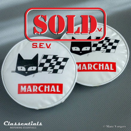 ULTRA RARE Vintage Original 1960s Lamp Covers for S.E.V. Marchal 662 / 762 Fantastic - 780 / 880 Starlux 180 mm Spot and Fog Lamps (PAIR) - Ferrari and Other 1960s Sports Cars Classentials motoring essentials classic car oldtimer accessories accessory