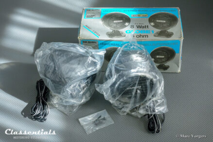 Vintage Original 1970s, early 1980s SOUND2000 'Globe' Parcel Shelf Speakers NEW IN BOX kugellautsprecher classentials motoring essentials classic car oldtimer accessory accessories autoradio auto radio