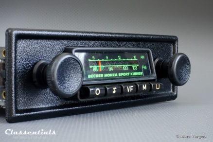 Becker Monza Sport Kurier VERY RARE 1970s Vintage Original Classic Car Auto Radio for Alfa Romeo, BMW, Fiat, Lancia, MG, Porsche, Triumph and Other Sports Cars 1968 - 1978 MP3 Bluetooth autoradio classic car oldtimer classentials motoring essentials