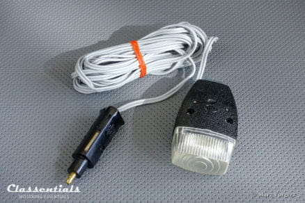 ULTRA RARE Vintage Original Late 1960s / Early 1970s HELLA Magnetic Inspection Light / Lamp Audi, BMW, Porsche, Mercedes-Benz, Porsche, VW - Plugs in Cigarette Lighter Socket and 1960s HELLA 12V Socket classic car auto oldtimer classentials motoring essentials accessory accessories