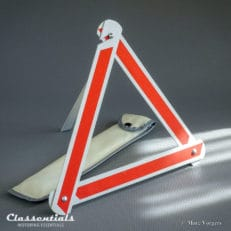 ULTRA RARE Vintage Original 1950s / 1960s VERY COMPACT Hazard / Warning Triangle Boot Accessory Suitable for Small / Light European Classic Cars alfa romeo fiat bmw isetta heinkel classentials motoring essentials classic car oldtimer accessory accessories