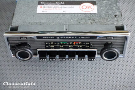 Becker EUROPA II STEREO (108 Mhz) Ultra Rare 1970s Vintage Original Top-End Classic Car Auto Radio, Mercedes-Benz and Other Exclusive Cars 1970 -1980 MP3 and Bluetooth Ready