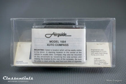 RARE Vintage Original 1980s - 1990s AIRGUIDE Auto Compass Model 1664 'The Eurosport' BRAND NEW in Blister classic car oldtimer accessory classentials motoring kompas