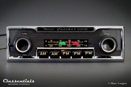 Becker Europa II STEREO (108 Mhz) Ultra Rare 1970s Vintage Original Top-End Classic Car Auto Radio, Mercedes-Benz and Other Exclusive Cars 1970 -1980 MP3 Bluetooth classentials autoradio