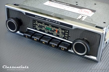 Becker Europa LMKU 1970s Vintage Original High-End Classic Car Auto Radio, Mercedes-Benz and Other Exclusive Cars 1968 -1978 MP3 Bluetooth classentials autoradio