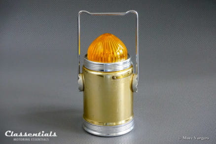 ULTRA RARE 1950s / 1960s MEYER / ROECO Portable Lantern / Flashing Warning Lamp Classic Car Boot Accessory oldtimer classentials vintage motoring essentials