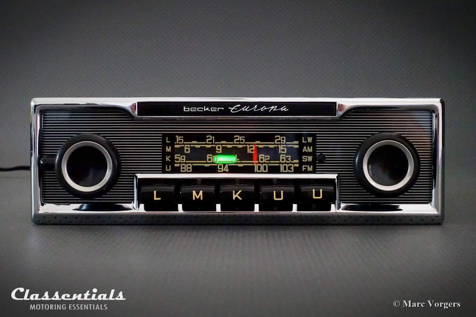 Becker EUROPA LMKU 1970s Vintage Original High-End Classic Car Auto Radio,  Mercedes-Benz and Other Exclusive Cars 1968 -1978 MP3 and Bluetooth Ready