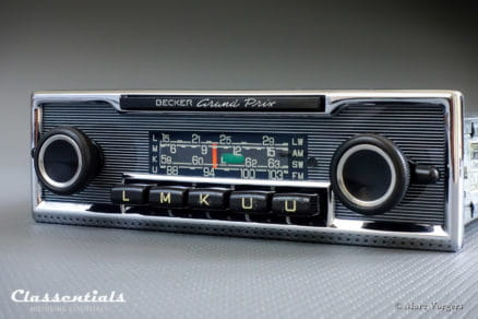 Becker GRAND PRIX Rare Late 1960s Vintage Original Top-End Classic Car Auto Radio, Mercedes-Benz and Other Exclusive Cars 1968 -1978 MP3 and Bluetooth Ready classentials motoring essentials autoradio classic car oldtimer accessory