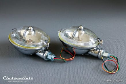 BRAND NEW Lucas SLR 576 late 1930s, 1940s, 1950s Long-Range Spot- / Driving Lamps (PAIR) – Austin Healey, MG, Jaguar, Rover, Triumph and Others classic car oldtimer accessory classentials motoring essentials