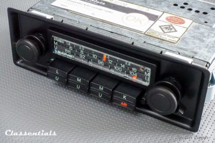 Blaupunkt Köln STEREO Super Arimat 1976 VERY RARE TOP-END Vintage Original Classic Car Auto Radio for Porsche 911 / 930 G-Series Models 1975 - 1978 INCLUDING Classentials Stereo Bluetooth Module classic car oldtimer autoradio classentials motoring essentials accessory accessories