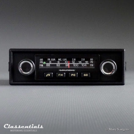 Grundig 'Weltklang' WK 300, 1975 Vintage Classic Car Auto Radio (All 1970s Cars) - INCLUDING Classentials de Luxe Bluetooth Module classic car oldtimer autoradio classentials motoring essentials accessory accessories