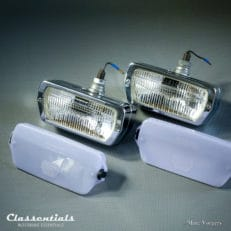 ULTRA RARE Vintage Original 1960s CIBIÉ 90 Iode CHROME Wide-Beam Fog-Lamps for Aston Martin DB4, DB5, DB6, Jensen FF Peugeot, Renault, Fiat 124, Classentials motoring essentials classic car oldtimer accessories accessory