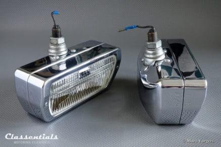 ULTRA RARE Vintage Original 1960s CIBIÉ 90 Iode CHROME Wide-Beam Fog-Lamps for Aston Martin DB4, DB5, DB6, Jensen FF Peugeot, Renault, Fiat 124, Classentials motoring essentials classic car oldtimer accessories accessory