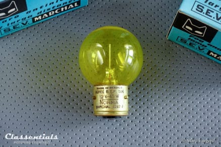 SEV MARCHAL Amber / Yellow Light Bulb Lamp type 1282J / Ba21s for 1960s Spot / Fog Lamps Fantastic 662 762 672 682 Classentials motoring essentials classic car oldtimer accessory accessories