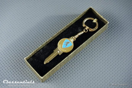 Vintage Original 1950s - 1960s 'Golden' PEUGEOT Key Ring - Spare Key - Number RE91XR - MINT - Ultra Rare Collectors Item Classentials motoring essentials classic car oldtimer accessory accessories