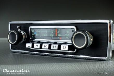 Blaupunkt Karlsruhe 1972 Very Rare 108 Mhz Vintage Original High-End Classic Car Auto Radio Universal for BMW CS, CSL, CSI, 2002, Jaguar E-type S2, and Other Classics 1968 - 1973, INCLUDING Classentials De Luxe Bluetooth Module motoring essentials classic car oldtimer autoradio accessory accessories