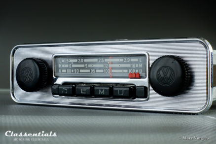 Grundig Emden 3 III E 108 Mhz, Rare 1969 Vintage Original Classic Car Auto Radio for VW BEETLE With Metal Dashboard 1968 – 1973, INCLUDING Classentials De Luxe MP3 Kit motoring essentials classic car oldtimer autoradio accessory accessories