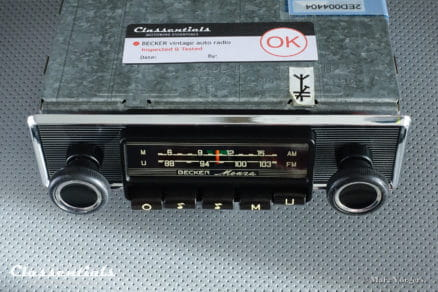 Becker MONZA MU Early 1970 Vintage Original Classic Car Auto Radio, Alfa Romeo, BMW, Fiat, Ford, Mercedes, Lancia, Peugeot, Saab , Triumph, Volvo and Other Cars 1968 - 1974, INCLUDING Classentials De Luxe Bluetooth Module motoring essentials autoradio classic car oldtimer accessory accessories
